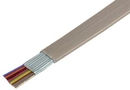 IEC CAB008-MP-SH 26 Gauge 8 Conductor Shielded Silver Satin Cable Priced by the Foot
