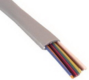 IEC CAB008-MP 28 Gauge 8 Conductor Silver Satin Cable Priced by the Foot