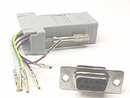 IEC DB09F-RJ1106 DB09 Female to RJ1106 Adapter Gray