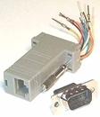 IEC DB09M-RJ4508 DB09 Male to RJ4508 Adapter Gray