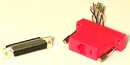 IEC DB25F-RJ4508-RD DB25 Female to RJ4508 Adapter Red