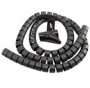 IEC HWS1-1-4-BK Spiral Cable Zip Wrap Black 1-1/4 Inch x 59 Inch