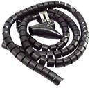 IEC HWS3-4-BK Spiral Cable Zip Wrap Black 3/4 Inch x 59 Inch