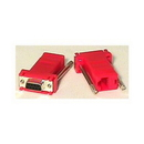 IEC L0671 Adapter Crossed DB09 Female to RJ45 PC Red DTE