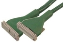 IEC L13675 PC Single Floppy Cable with ID34 Connectors 18in Round Green