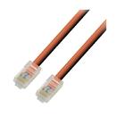 IEC L60463NB-0.5 RJ45 4Pr Cat 6 Patch Cord No Boots ORANGE 6 inches