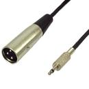 IEC L7226-10 3 Pin XLR Male to 3.5mm Male Unbalanced (2 pole on 3.5mm Plug) 10 feet