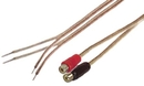 IEC L74234-01 18 AWG Speaker wire pair with RCA Females (Black & Red) 1'