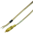 IEC L74235-20 16 AWG Speaker wire with Gold RCA Male with Black band 20'