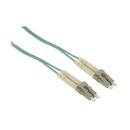IEC L8755-50M LC to LC Duplex Multimode Aqua 10-Gig Fiber Optic Cable - 50 Meter
