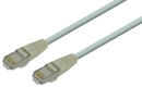 IEC M0579-15 RJ45 4pr Cat 5e Shielded Cable With Molded Snag Free Strain Relief Gray - Imported 15'