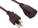 IEC M1301 Power Extension Cord ( NEMA 5-15P to NEMA 5-15R ) 16 AWG 3c 6'