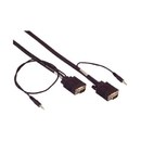 IEC M13271-75 VGA Monitor & 3.5mm Audio Cable Male to Male High Resolution 75'