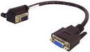 IEC M13301 VGA Monitor Right Angle Male to Straight Female Adapter 1'