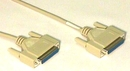 IEC M1394 PC D25 Female to D25 Female Hi Speed Link Null Modem Cable 6'
