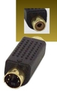 IEC M5662 SVHS MD04 Male to Composite RCA Female Adapter