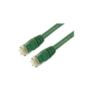 IEC M60465-0-5 RJ45 4Pr Cat 6 Patch Cord with Molded Snag Free Strain Relief GREEN 0.5'