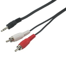 IEC M7400-03 3.5mm Stereo Male to 2 RCA Male Connectors 3'