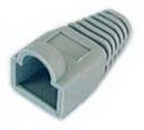 IEC MP08H-T1 RJ45 Modular Strain Relief Boot fire resistant rating for T1 - Gray
