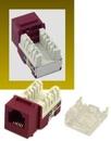 IEC RH1106F-MT-RD RJ1106 Female Narrow Keystone Connector Red Category 3