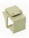 IEC RJBLANK-MT RJ Blank Keystone Filler Ivory
