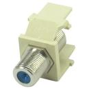 IEC RJF100F-F-3G-IV F100 CATV Female to Female 3 GHz Rated Keystone Connector Insert Ivory
