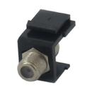 IEC RJF100F-F-BK F100 CATV Female to Female Keystone Connector Plate Insert - Black