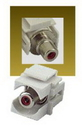 IEC RJRCARF-F-WH Red RCA Female to Female Connector on White Keystone