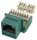 IEC RK4508F-MT-GNL5 RJ4508 Female Keystone Connector Green Category 5e