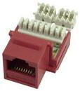 IEC RK4508F-MT-RDL5 RJ4508 Female Keystone Connector Red Category 5e