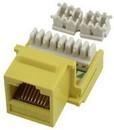IEC RK4508F-MT-YEL5 RJ4508 Female Keystone Connector Yellow Category 5e
