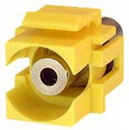 IEC RM35-YE 3.5 mm Stereo Phone Female to Female Flush Mount Keystone Connector Plate Insert Yellow