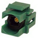 IEC RMTOS-GN Toslink Female to Female Connector on White Flush Mount Keystone Green
