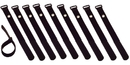 IEC TIEV9-MTBK-10 Wrap around Tie Mount Strap 9 inch x 3/4 inch wide Black 10 Pack