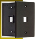 IEC WB10801 Black Plastic Wall Plate with 1 Cutout for a Keystone Insert