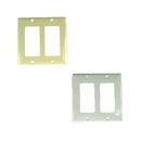 IEC WB20002 Plastic Two Gang Wall Plate with 2 Decora Cutouts - Black