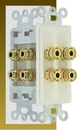 IEC WDH472000 White Decora Insert with Two Pair of Binding Posts