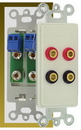 IEC WDH482000 White Decora Insert with Two Pair of Banana Jacks