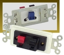 IEC WDH522000 White Decora Insert iwth One Pair of Speaker Posts