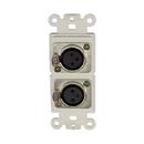 IEC WDH532000 White Decora Insert with Two XLR Female