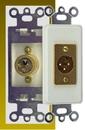 IEC WDH541000 White Decora Insert with One XLR Male