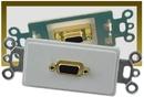 IEC WDH661000 White Decora Insert with One VGA