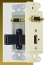 IEC WDH661181 White Decora Insert with One VGA and One USB-A
