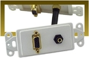 IEC WDH661561 White Decora Insert with One VGA and One 3.5mm Stereo Jack