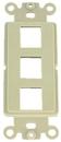 IEC WDZ343000 Ivory Decora Insert with Three Keystone Cutouts
