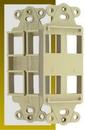 IEC WDZ344000 Ivory Decora Insert with Four Keystone Cutouts