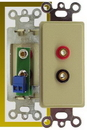 IEC WDZ481000 Ivory Decora Insert with One Pair of Banana Jacks