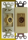 IEC WDZ541000 Ivory Decora Insert with One XLR Male