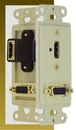 IEC WDZ681661 Ivory Decora Insert with One HDMI and One VGA