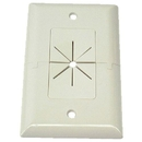 IEC WH17001 White Plastic Wall Plate Split Pass Through